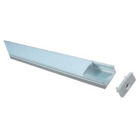 Perfil 2 de aluminio para 2 metros de longitud