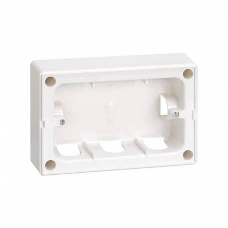 Base de caja de superficie para marco de 1 fila para 2 elementos blanco Simon 27 Centralizaciones