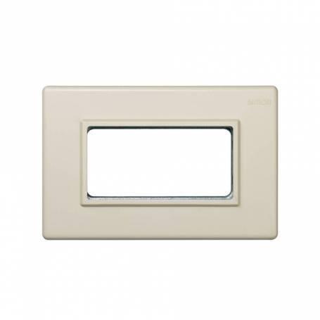 Marco para cajas de superficie o empotrar con bastidor de 1 fila para 2 elementos marfil Simon 27 Centralizaciones