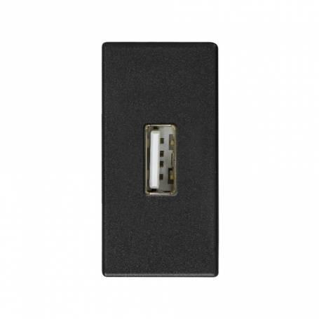 Conector USB 2.0 tipo A de medio elemento grafito Simon 27 Play