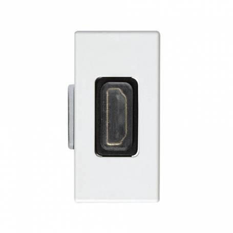 Conector HDMI v1.4 de medio elemento blanco Simon 27 Play