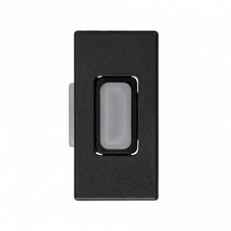 Conector HDMI v1.4 de medio elemento grafito Simon 27 Play