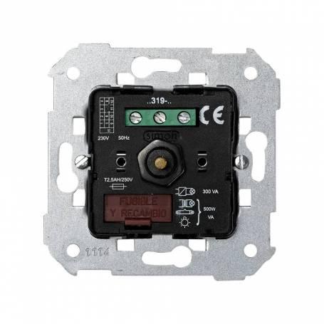 Regulador-conmutador de luz giratorio de 40 a 500 W/VA