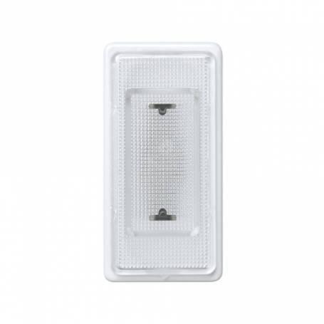Señalizador luminoso de medio elemento con rosca mignonnette E-10 blanco y tapa difusora incolora Simon 27 Play