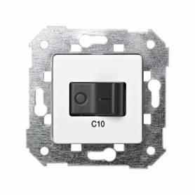 Interruptor automático magnetotérmico de empotrar 10A 1P+N blanco