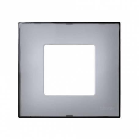 Funda intercambiable para marco 1 elemento gris translúcido Simon 27 Play