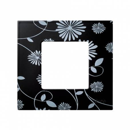 Funda intercambiable para marco 1 elemento black & white Simon 27 Play