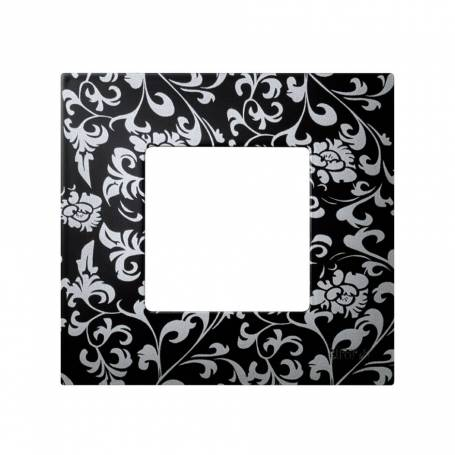 Funda intercambiable para marco 1 elemento vintage negro plata Simon 27 Play