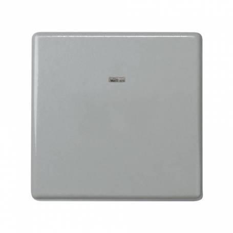 Conmutador 10 AX 250V~ con luminoso incorporado y sistema de embornamiento rápido gris Simon 27 Play