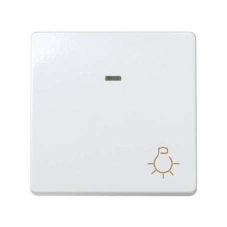 Pulsador con grabado luz 10 A 250V~, luminoso incorporado y sistema de embornamiento rápido blanco Simon 27 Play