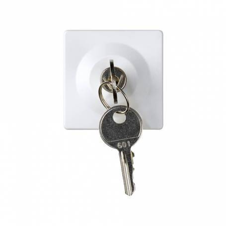 Conmutador con llave 2,5 A 250V~ de 2 posiciones (llave extraíble en ambas posiciones) emb.soldadura blanco Simon 27 Play