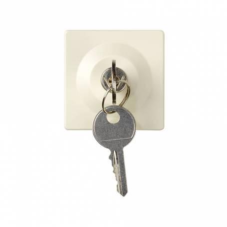 Conmutador con llave 2,5 A 250V~ de 3 posiciones (llave extraíble en posición reposo) emb.soldadura marfil Simon 27 Play