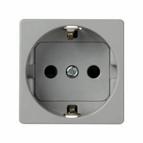 Base de enchufe schuko 16 A 250V~ con dispositivo seguridad y embornamiento a tornillo gris Simon 27 Play