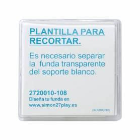 Tecla para mecanismos de mando transparente Simon 27 Play