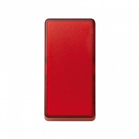 Tecla de medio elemento para mecanismos de mando rojo translúcido Simon 27 Play