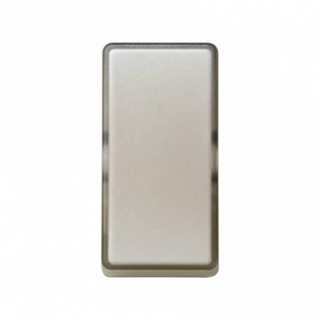Tecla de medio elemento para mecanismos de mando gris translúcido Simon 27 Play