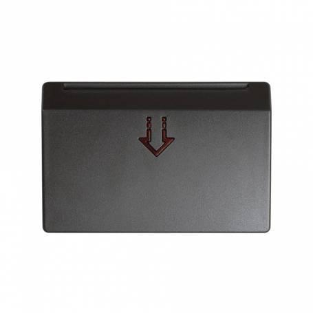 Tapa con visor para interruptor de tarjeta mecánico o electrónico grafito Simon 27 Play