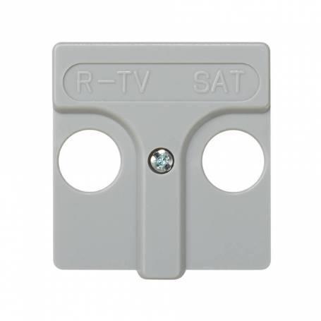 Placa para tomas inductivas de R-TV+SAT gris Simon 27 Play