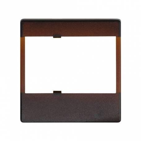 Placa para mecanismos electrónicos marrón translúcido Simon 27 Play