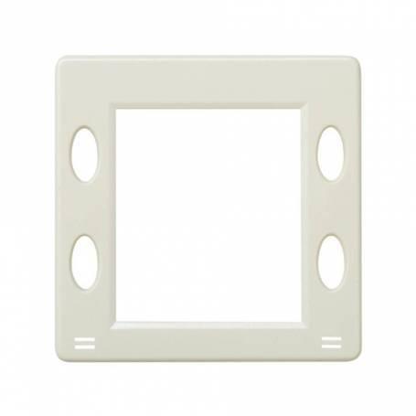Placa para mecanismos electrónicos con display marfil Simon 27 Play
