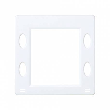 Placa para mecanismos electrónicos con display blanco Simon 27 Play