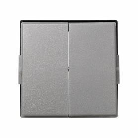 Tecla doble para mecanismos de mando gris esmeril Simon 27 Scudo
