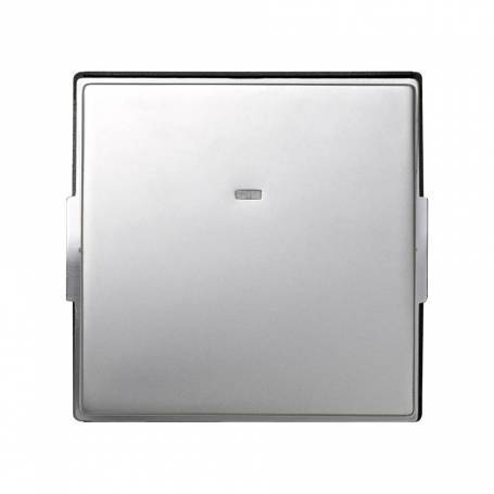 Tecla individual con visor aluminio Simon 27 Scudo