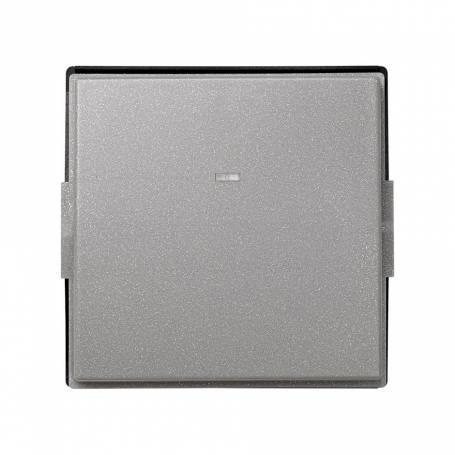 Tecla individual con visor gris esmeril Simon 27 Scudo