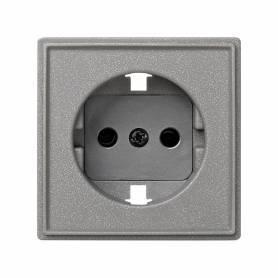 Tapa con dispositivo de seguridad para la base de enchufe schuko gris esmeril Simon 27 Scudo