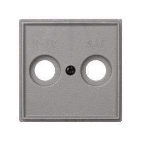 Placa para tomas inductivas de R-TV+SAT gris esmeril Simon 27 Scudo