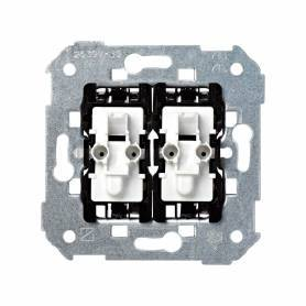 Grupo de 2 conmutadores 10 AX 250V~ con sistema de embornamiento rápido Simon 28