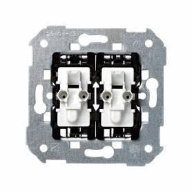 Grupo de 1 conmutador 10 AX 250V~ y 1 pulsador 10 A 250V~ con sistema de embornamiento rápido Simon 28