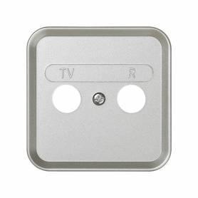Placa para tomas inductivas de R-TV aluminio Simon 31