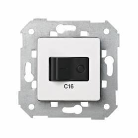 Interruptor automático magnetotérmico de empotrar 16A 1P+N blanco