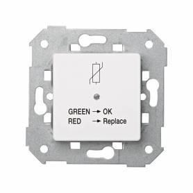 Limitador de sobretensión de origen atmosférico con indicador de estado de funcionamiento blanco