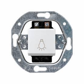 Pulsador con grabado luz 10 A 250V~ con sistema de embornamiento a tornillo blanco Simon 32