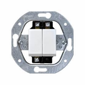 Grupo de 2 interruptores 10 AX 250V~ con sistema de embornamiento a tornillo blanco Simon 32