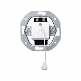 Pulsador de tirador con grabado campana 10 A 250V~ con sistema de embornamiento a tornillo blanco Simon 32