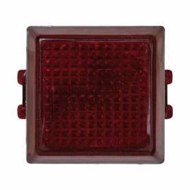 Señalizador luminoso con difusor rojo y lámpara de neón incorporada Simon 32