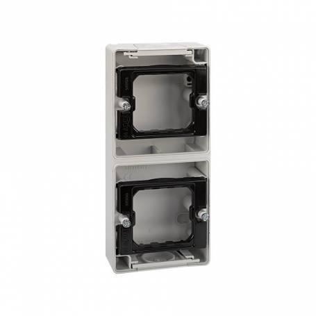 Base de superficie para 2 elementos vertical Simon 44 Aqua