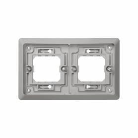 Marco para cajas de empotrar de 2 elementos horizontal Simon 44 Aqua