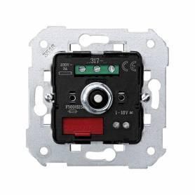 Regulador-conmutador de luz giratorio 1-10 V para lámparas de fluorescencia con carga máxima de 3 A