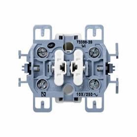 Grupo de 2 interruptores 10 AX 250V~ con sistema de embornamiento a tornillo Simon 73