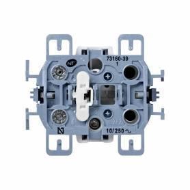 Pulsador 10 A 250V~ con luminoso incorporado y sistema de embornamiento a tornillo Simon 73