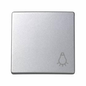 Tecla individual con grabado luz para pulsador aluminio Simon 73 Loft