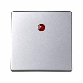 Tecla individual para mecanismos de mando con luminoso aluminio Simon 73 Loft