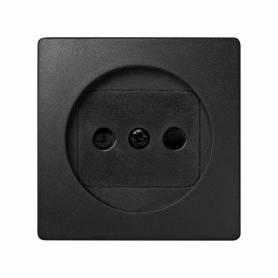 Tapa con dispositivo de seguridad para la base de enchufe bipolar grafito Simon 73 Loft