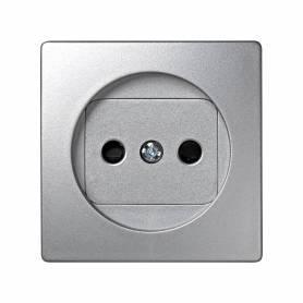 Tapa con dispositivo de seguridad para la base de enchufe bipolar aluminio Simon 73 Loft