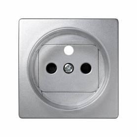 Tapa con dispositivo de seguridad para la base de enchufe francesa aluminio Simon 73 Loft