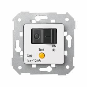 Interruptor automático magnetotérmico y diferencial de empotrar 10 A/10 mA blanco
